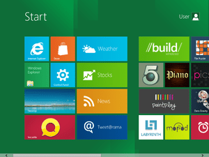 The new Windows 8 Start Screen, making use of ...