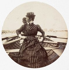 Woman in a rowing boat