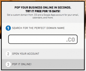 Pop your business online - .CO name + Gmail + LaunchRock in 30 seconds - POP.co